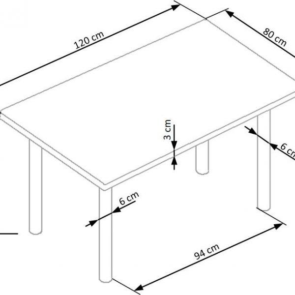 Valgomojo stalas BH0003