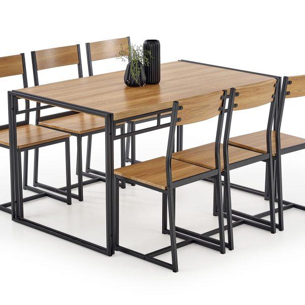 Valgomojo komplektas BH0145 (stalas + 6 kėdės)