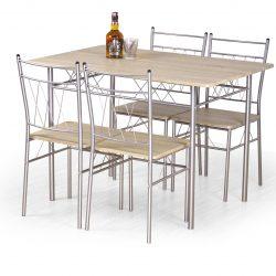 Valgomojo komplektas BH0147 (stalas + 4 kėdės)