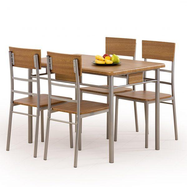 Valgomojo komplektas BH0152 (stalas + 4 kėdės)