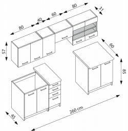 Virtuvės baldų komplektas BH0198