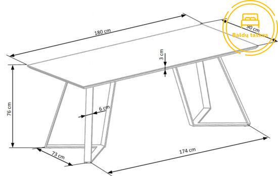 Valgomojo stalas BH0021
