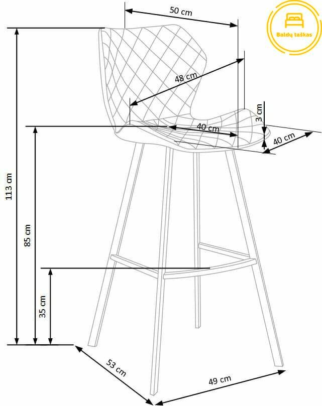 Baro kėdė BH0663