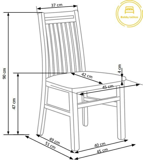 Valgomojo kėdė BH1121