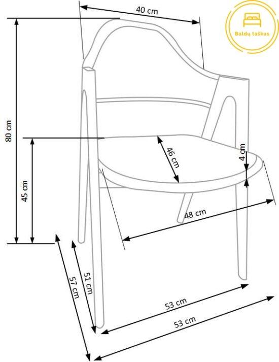 Valgomojo kėdė BH1079
