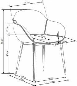 Valgomojo kėdė BH1039