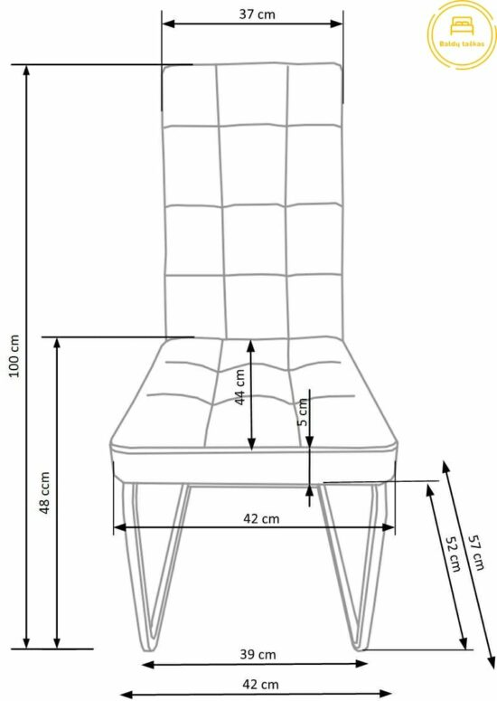 Valgomojo kėdė BH1045