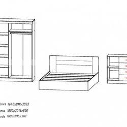 Miegamasis kambarys BA0102