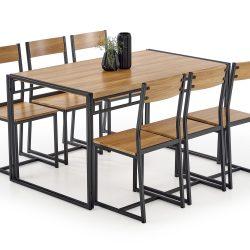 Valgomojo komplektas BH1184 (stalas + 6 kėdės)