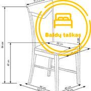 Valgomojo kėdė BValgomojo kėdė BH1146H1145